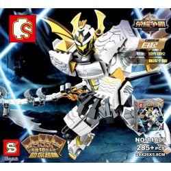 Lego Nexo Knights MOC Sembo S11806 Chiến binh bạc thần công Xếp hình 285 khối