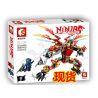 Sembo S8402 Ninjago Movie Double Wings Hellfire Dragon Mech Kai Xếp Hình Rồng Lửa 2 Cánh Của Kai 358 Khối