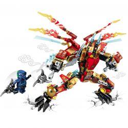 Sheng Yuan Sembo S Brand S8402 Ninjago Movie Double Wings Hellfire Dragon Mech Kai Xếp Hình Rồng Lửa 2 Cánh Của Kai 358 Khối