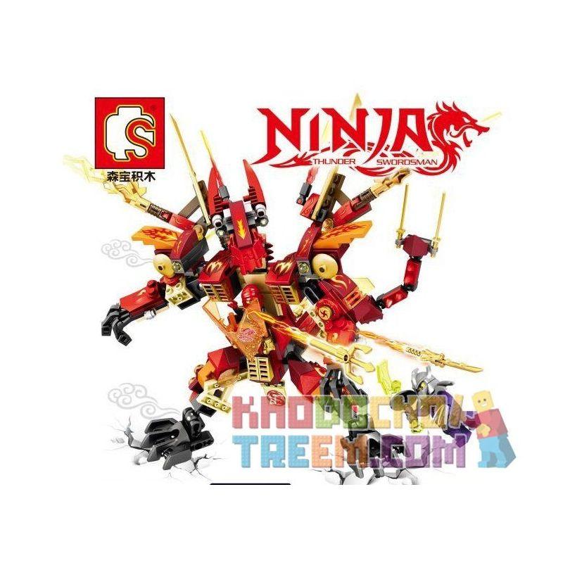 Sembo S8303 Ninjago Movie Dragon Huanglong Armor Xếp Hình Áo Giáp Rồng Huanglong 305 Khối