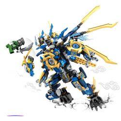 Lego NinJaGo MOC Sembo S8403 Dragon Blue Scorpion flame Mech Xếp hình 371 khối