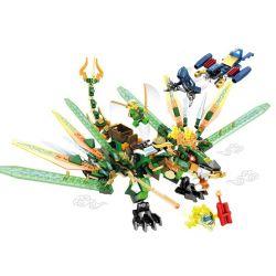 Lego NinJaGo MOC Sembo S8502 The battle of the green dragon Xếp hình Cuộc chiến của rồng xanh 400 khối