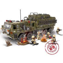 Xingbao XB-06014 Military Army Scorpion Heavy Truck Xếp hình Xe Tải Bọ Cạp Hạng Nặng 1377 khối