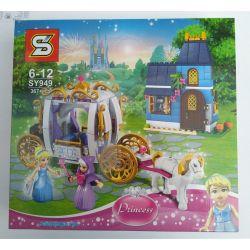 Sheng Yuan SY949 Decool 70219 Disney Princess 41146 Cinderella's Enchanted Evening Xếp hình Đêm quyến rũ của cô gái Lọ Lem 367 khối