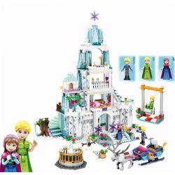Lego Disney Princess MOC Sheng Yuan SY806 Anna Kristoff Sven Olaf Castle Super Jumbo Xếp hình Công chúa băng giá và lâu đài tuyết 767 khối