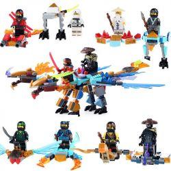 Sheng Yuan 671 SY671 (NOT Lego Ninjago Movie Ninjas In Powers With Dragons ) Xếp hình Những Chiến Binh Ninja Với Rồng lắp được 9 mẫu 313 khối