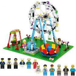 Lego Creator MOC Sembo SD6701 Fun Ferris Wheel Fair Xếp hình Vòng Đu Quay Hội Chợ Vui Nhộn 447 khối