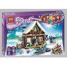 Lepin 01040 Bela 10731 Friends 41323 Snow Resort Chalet Xếp hình Nhà Gỗ Khu Trượt Tuyết 514 khối