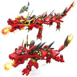 Lego NinJaGo MOC Lepin 8921 Kai Ninja & Dragon Xếp hình 417 khối
