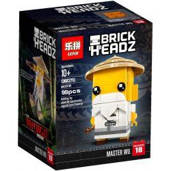 Lepin 06070 BrickHeadz 41488 Master Wu Xếp hình sư phụ Master Wu 99 khối