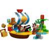 GoRock 1018 Hystoys HongYuanSheng Aoleduotoys HG-1276 Duplo 10514 Jakes Pirate Ship Bucky Xếp Hình Tàu Cướp Biển Chở Kho Báu Của Jakes 60 Khối