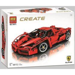 Bela 10571 Technic MOC Enzo Ferrari 1:8 Xếp hình xe ô tô đua Enzo Ferrari tỉ lệ 1:8 1368 khối