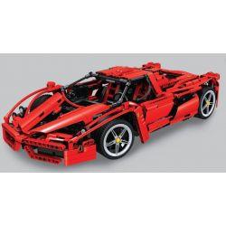 Lego Technic MOC Bela 10571 Enzo Ferrari 1:8 Xếp hình xe ô tô đua Enzo Ferrari tỉ lệ 1:8 1368 khối