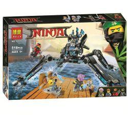 Lepin 06054 Lele 31068 Bela 10717 (NOT Lego Ninjago Movie 70611 Nya's Wasser-Walker ) Xếp hình Nhện Nước Khổng Lồ Của Nya 582 khối