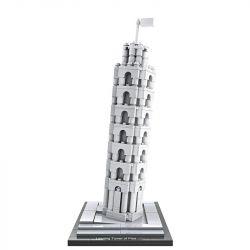 Loz 1010 Architecture Leaning Tower of Pisa Xếp hình Tháp nghiêng Pisa 345 khối
