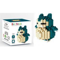 Mini block Pokemon LNO 114 Snorlax Xếp hình Pokemon Snorlax 221 khối
