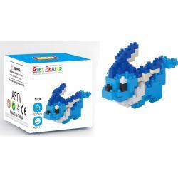Lno 109 Mini block Pokemon Vaporeon Xếp hình Pokemon Vaporeon 135 khối