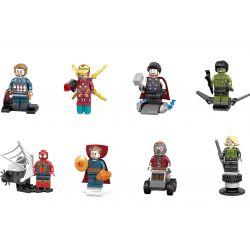 Sheng Yuan 687 SY687 (NOT Lego Super Heroes Marvel Superheroes Infinity War-Inspired Minifig ) Xếp hình Chiến Tranh Vô Tận Siêu Anh Hùng gồm 8 hộp nhỏ 175 khối