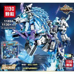 Lego Nexo Knights MOC Sembo S11894 Xếp hình Thần Zeus và ngựa thần Pegasus 1130 khối