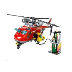 Lego City MOC Sembo SD9547 Rescue Helicopter Xếp hình Trực thăng cứu hỏa 231 khối
