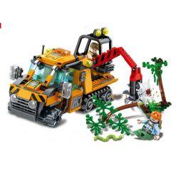 Lego City MOC Sembo SD9548 Xe cứu hộ trong rừng Xếp hình Jungle rescue car 273 khối