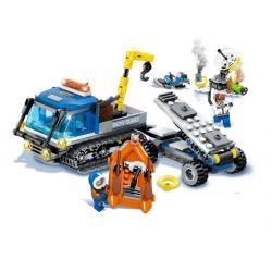 Lego City MOC Sembo SD9549 Snow rescue car Xếp hình Xe tải cứu hộ trên băng 335 khối