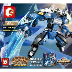 Lego King of Glory MOC Sembo S11801 Lepin 40001 King of Glory Mechs: Zhao Yun Xếp hình Game Liên quân: Đấu sĩ Triệu Vân 297 khối
