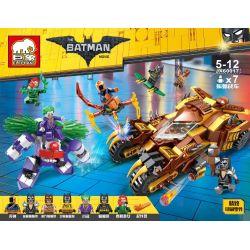 Elephant JX60017 The Batman MOC Catman Catmobile vs Joker Mech Xếp hình Chiến xa của người mèo đối đầu người máy gã Hề độc ác 0 khối