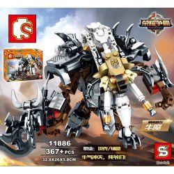 Lego Nexo Knights MOC Sembo S11886 More King of Glory Mechs Xếp hình Quyền năng vô tận của vua Mechs 367 khối