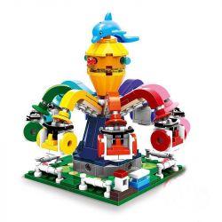 Lego Creator MOC Xingbao XB-01108 Spinning Octopus Xếp hình Đu quay bạch tuộc xoay vòng 350 khối