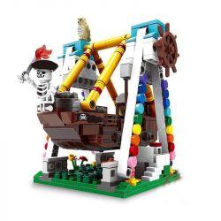 Lego Creator MOC Xingbao XB-01109 Pirate Ship Launching Xếp hình Tàu Cướp Biển Hạ Thủy 520 khối