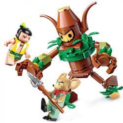 Lego Calabash Brothers MOC Enlighten 2502 Gourd doll brother Calabash Xếp hình Búp bê hồ lô: Anh em nhà Calabash 144 khối