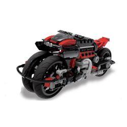 Xingbao XB-03021 Creator MOC Sci-Fi Motorcycle LM847 Xếp hình Mô tô của tương lai 680 khối