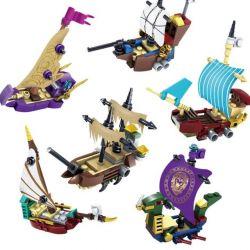 Lego The Chronicles of Narnia MOC Kazi KY87024 Mini Pirate Ships with Minifigs Xếp hình Những Gã Cướp Biển Tí Hon Và Các Con Tàu 368 khối