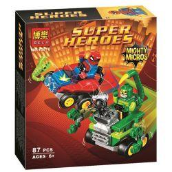 Bela 10670 (NOT Lego Marvel Super Heroes 76071 Spider-Man Vs. Scorpion ) Xếp hình Cuộc Chiến Của Người Nhện Và Bọ Cạp Xanh 87 khối