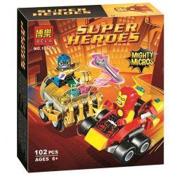 Bela 10671 (NOT Lego Marvel Super Heroes 76072 Mighty Micros Iron Man Vs Thanos ) Xếp hình Cuộc Chiến Mighty Micros Giữa Người Sắt Và Ác Nhân Thanos 102 khối