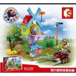 Lego Smeshariki MOC Sembo S12109 Smeshariki Xếp hình Biệt đội những trái bóng vui nhộn 455 khối