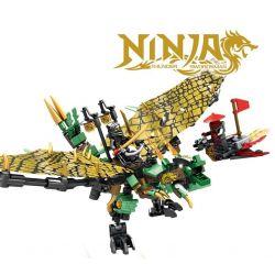 Lego Ninjago MOC Sembo S8206 Green Dragon Xếp hình Rồng xanh 310 khối