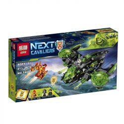 Lepin 14041 Bela 10816 Nexo Knights 72003 Berserker Bomber Xếp hình Máy bay ném bom điên loạn 413 khối