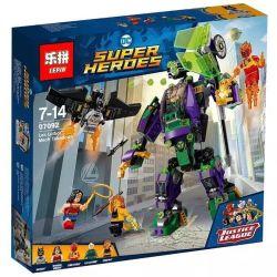 Lepin 07092 DC Super Heroes 76097 Lex Luthor Mech Takedown Xếp hình Hạ gục người máy của Lex Luthor 455 khối