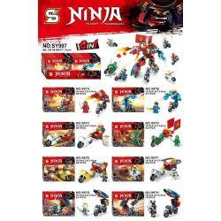 Lego NinJaGo MOC Sheng Yuan 997 8 minifigures in 1 Xếp hình 8 nhân vật ninja kết hợp thành người máy lớn 488 khối