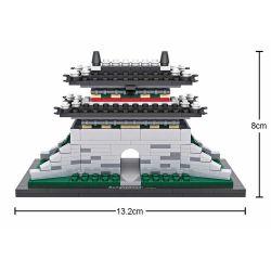 Miniblock Architecture MOC Loz 1009 Sungnyemun gate Xếp hình Cổng Namdaemun 325 khối