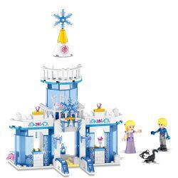 Lele 37026 (NOT Lego Disney Princess Happy Princess ) Xếp hình Lâu Đài Băng Của Những Nàng Công Chúa Vui Vẻ 179 khối