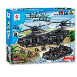 Qunlong QL0108 Military Army The Military Medium-Sized Transport Helicopter Xếp hình Trực Thăng Vận Tải Quân Sự 1351 khối