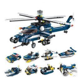 Lego Military Army MOC Enlighten 1801 Storm Armed Helicopter 8-in-1 Xếp hình Máy bay trực thăng vũ bão 8 trong 1 381 khối