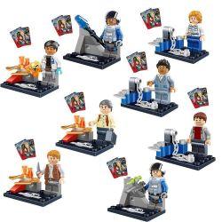 Lego Jurassic World MOC Lele 79058 8 minifigures Xếp hình 8 nhân vật 80 khối