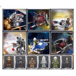 Lego Star Wars MOC Sheng Yuan 1005 Millennium Titanium fighter Xếp hình Máy bay chiến đấu thiên niên kỷ Titanium 649 khối