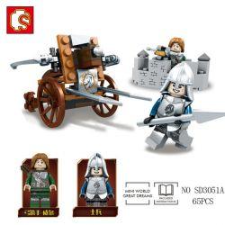 Lego Ghost Tribes MOC Sembo SD3051 Ghost Tribal Series Xếp hình Tuyển Tập Bộ Lạc Ma Quái 283 khối