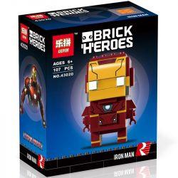 Lepin 43020 Decool 6818 Bela 10767 (NOT Lego BrickHeadz 41590 Iron Man ) Xếp hình Người Sắt 107 khối