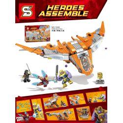 Lepin 07103 Sheng Yuan SY1043 Marvel Super Heroes 76107 Ultimate Battle Building Kit Xếp hình Trận chiến cuối cùng 755 khối